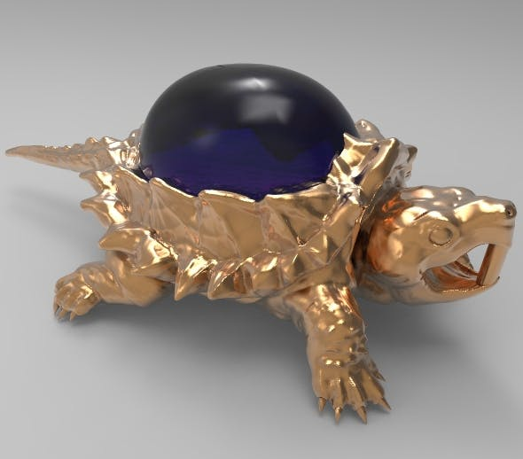 Jewelry pendant turtle with stone - 3DOcean Item for Sale