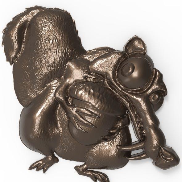 Scrat (Ice Age Squirrel) bas relief for CNC
