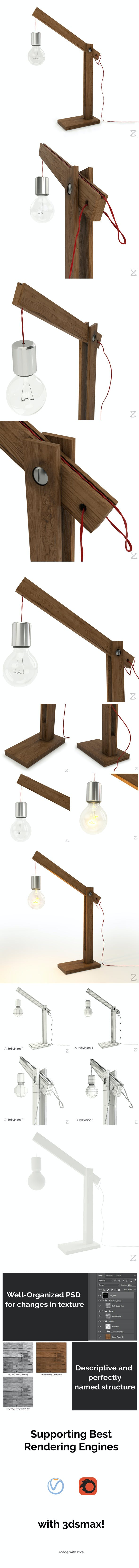 Table Lamp 1 - 3DOcean Item for Sale
