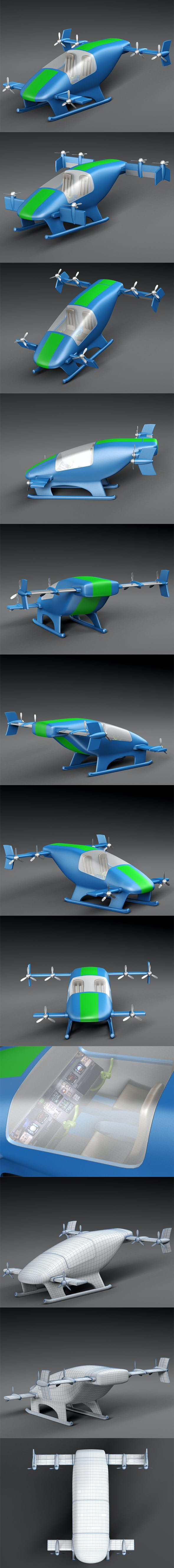 Flying Car Prototype - 3DOcean Item for Sale
