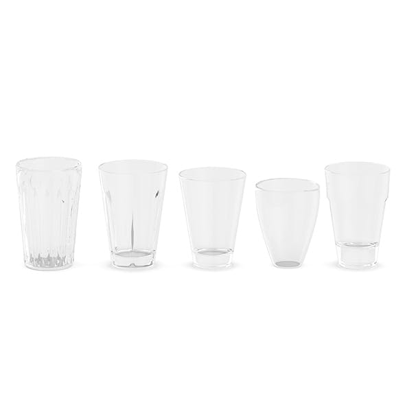 Set of Glasses - 3DOcean Item for Sale