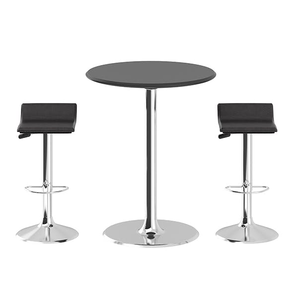 Bar Table with Stools - 3DOcean Item for Sale