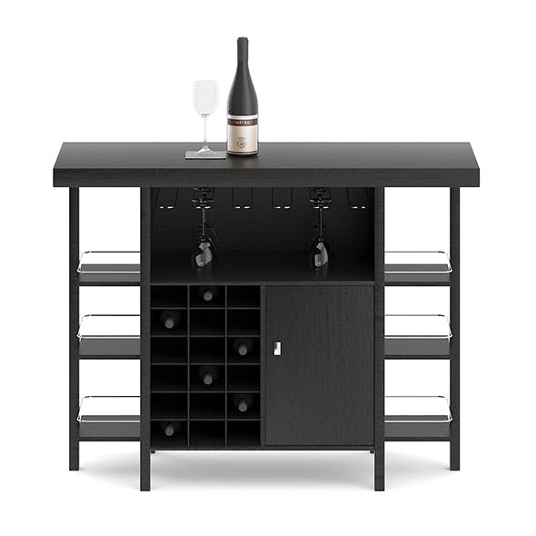 Mini Bar Table - 3DOcean Item for Sale