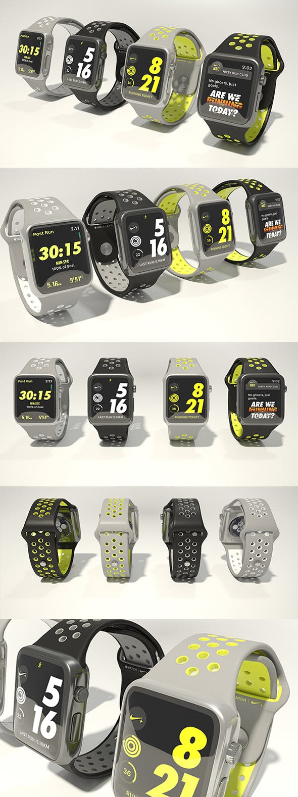 buy popular 7af85 4ea1c Apple watch Nike plus 3D model - 3DOcean Item for Sale. Airmax ...