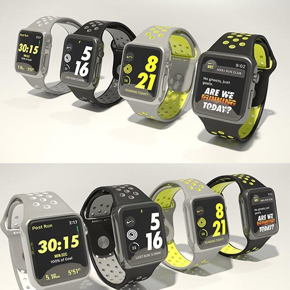 Apple watch Nike plus 3D model