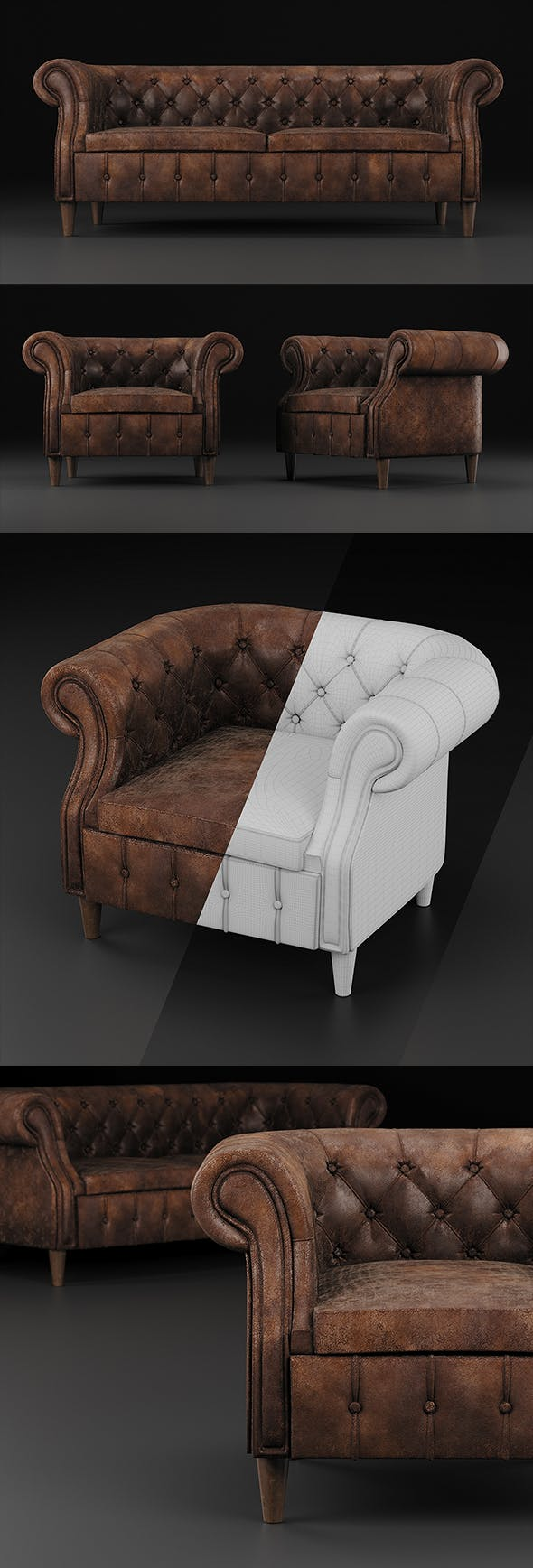 Chair and sofa Chelsea - 3DOcean Item for Sale