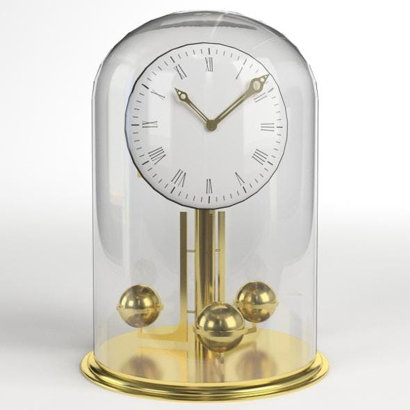 Vintage Brass Clock - 3DOcean Item for Sale