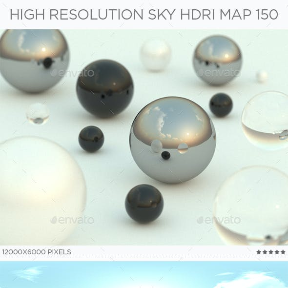 High Resolution Sky HDRi Map 150