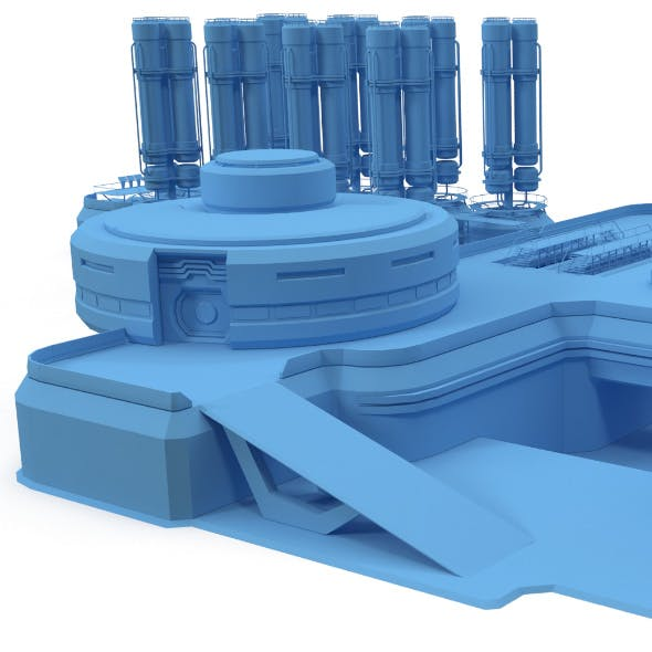 Sci-fi gas storage base - 3DOcean Item for Sale