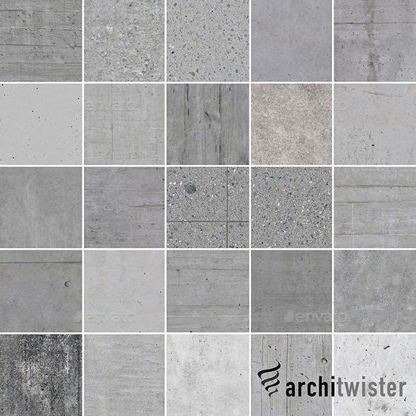 25 Seamless Concrete Textures - 3DOcean Item for Sale
