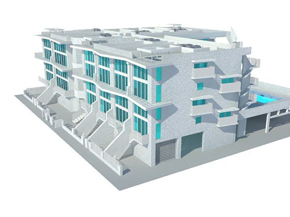 Residential Building - 3DOcean Item for Sale