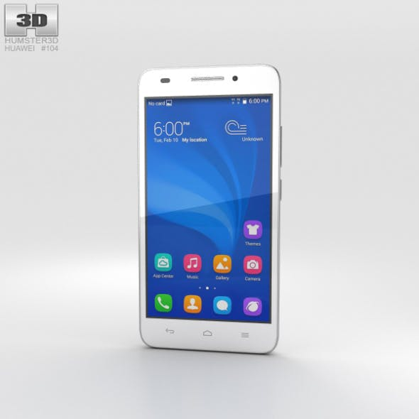 Huawei Honor 4 Play White - 3DOcean Item for Sale