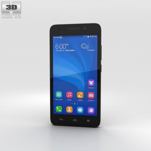 Huawei Honor 4 Play Black - 3DOcean Item for Sale