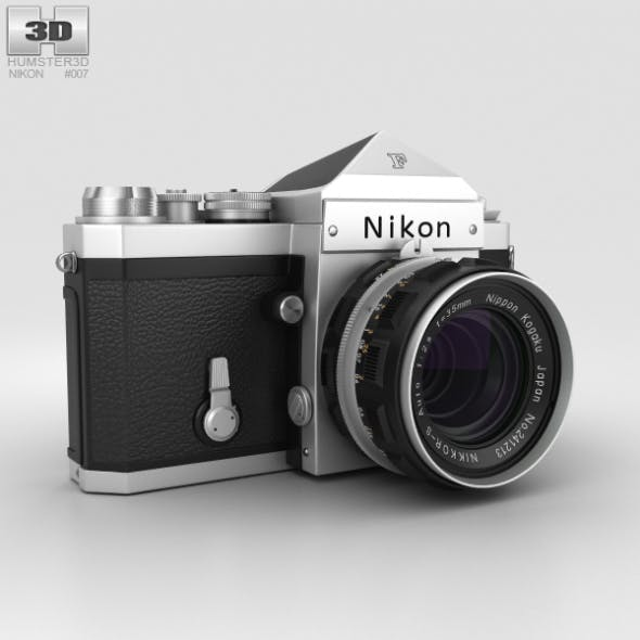 Nikon F Silver - 3DOcean Item for Sale