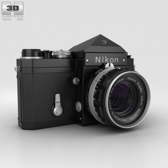 Nikon F Black - 3DOcean Item for Sale