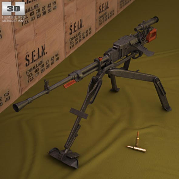 NSV machine gun - 3DOcean Item for Sale