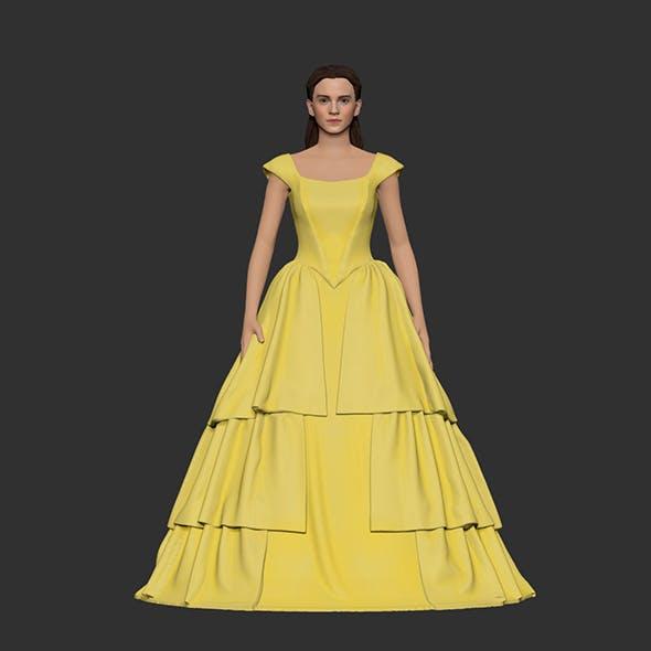 Girl Belle in yellow dress