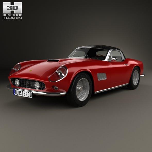 Ferrari 250 GT California SWB Spyder with HQ interior 1958 - 3DOcean Item for Sale