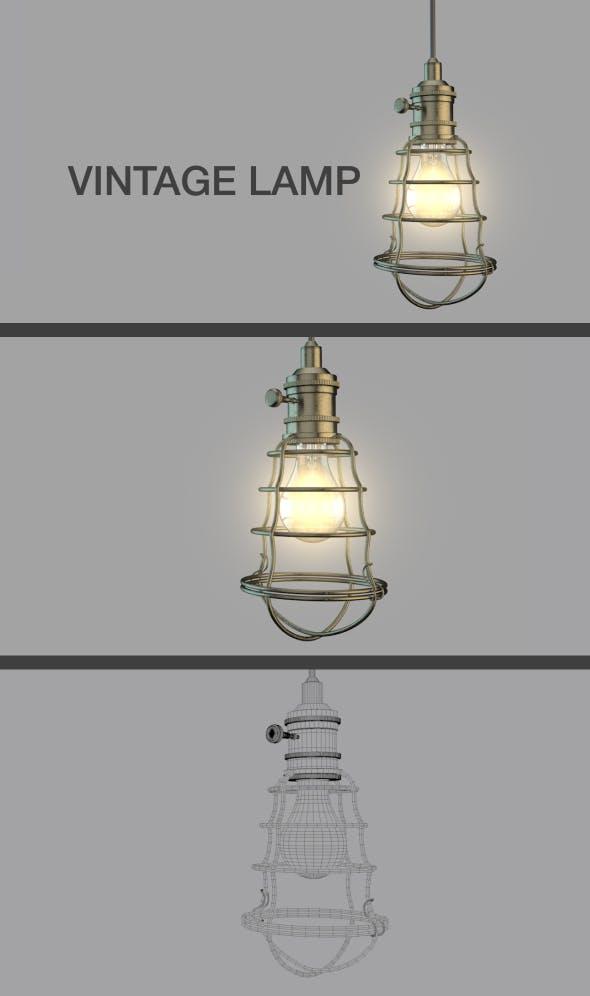 Vintage Lamp - 3DOcean Item for Sale