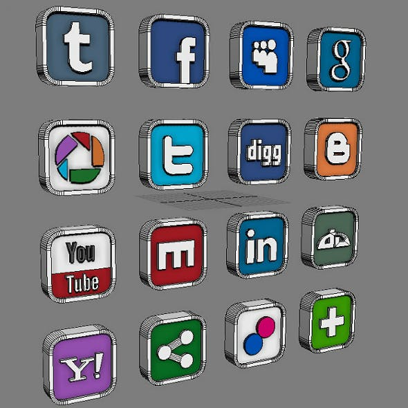 Social and Media Icon Set