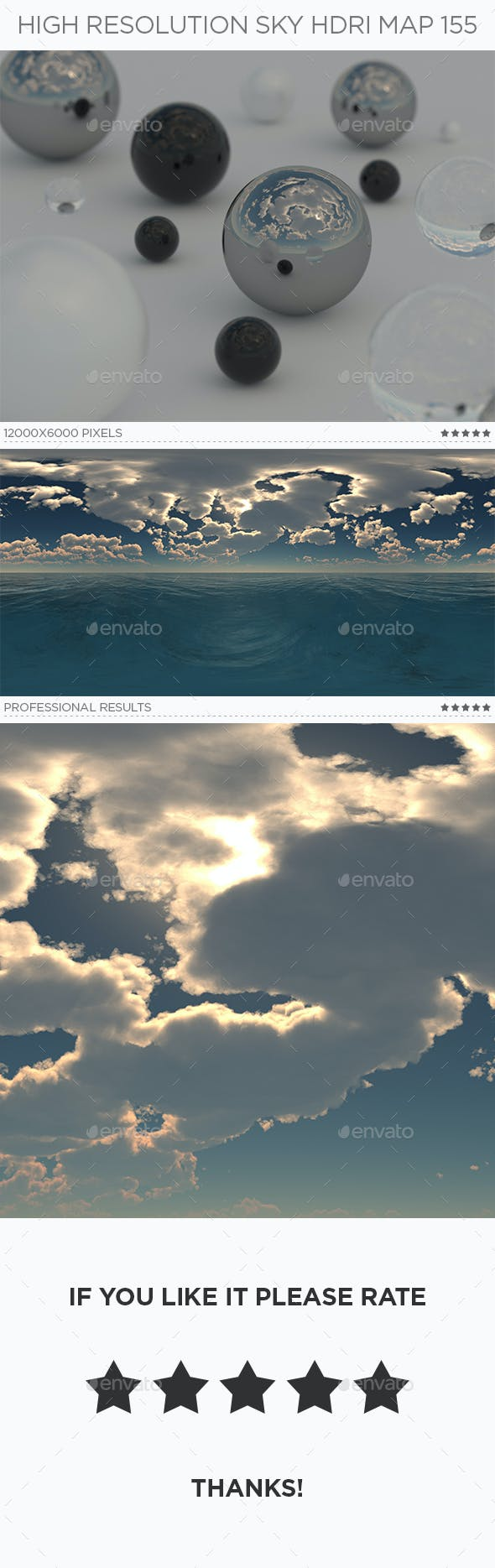 High Resolution Sky HDRi Map 155 - 3DOcean Item for Sale