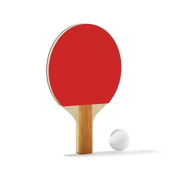 Table Tennis Racket and Ball - 3DOcean Item for Sale