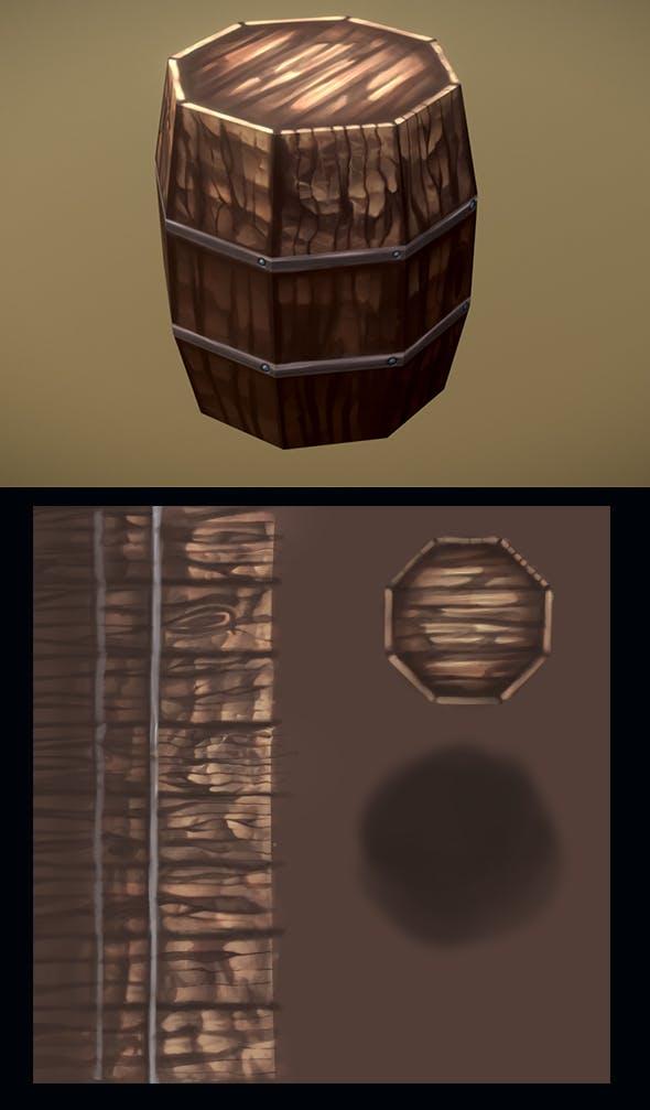 Barrel_Low_Poly - 3DOcean Item for Sale