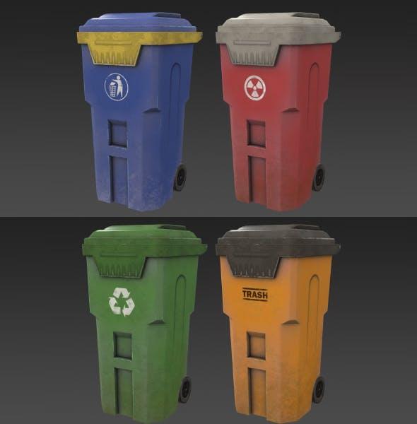 Trashcan - 3DOcean Item for Sale