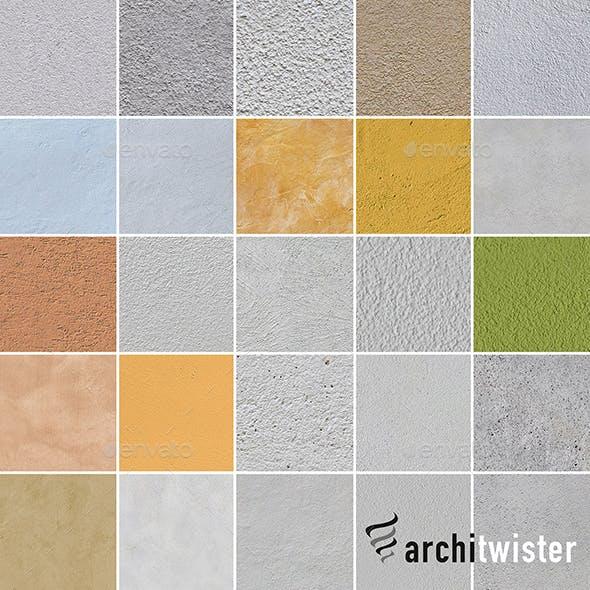 25 Seamless Plaster Textures