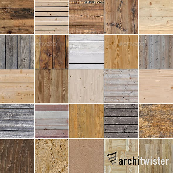 25 Seamless Wood Textures - 3DOcean Item for Sale
