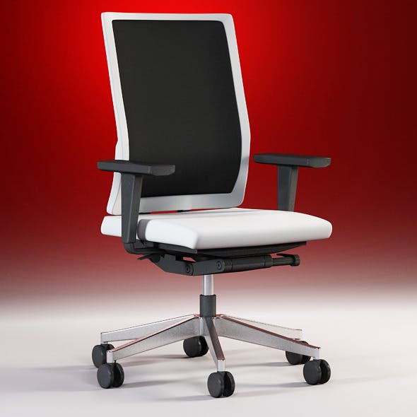 Quality 3dmodel of modern chair B_Move. Bene - 3DOcean Item for Sale