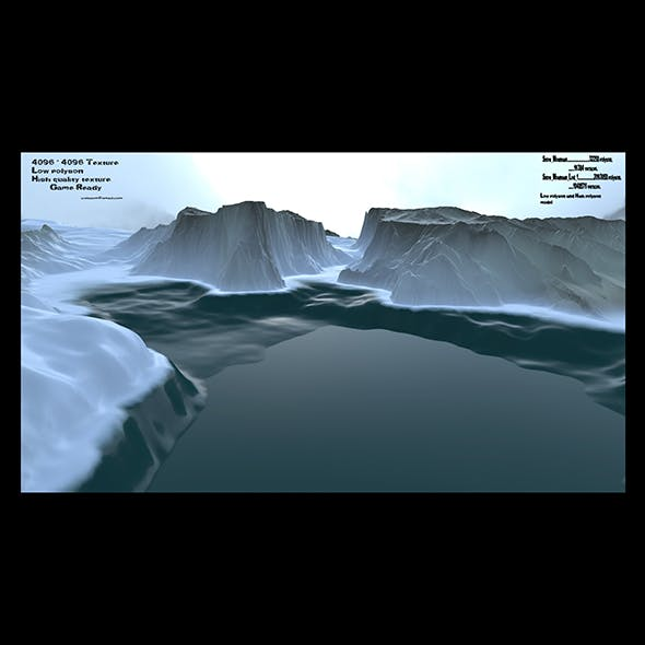 snow mountain 3 - 3DOcean Item for Sale