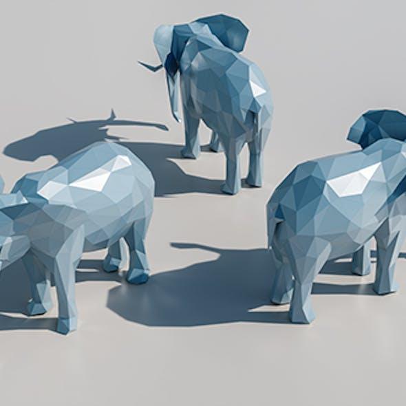 Lowpoly Elephant 001