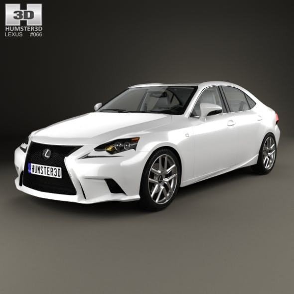 Lexus IS (XE30) F Sport with HQ interior 2013 - 3DOcean Item for Sale