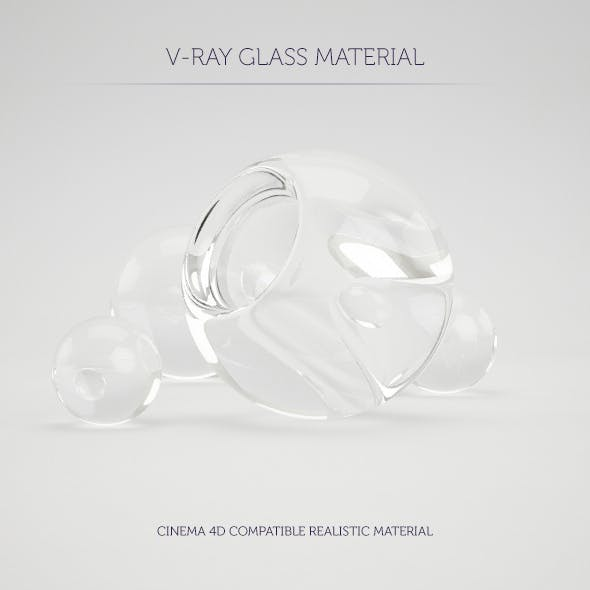 C4D V-Ray Glass Material - 3DOcean Item for Sale