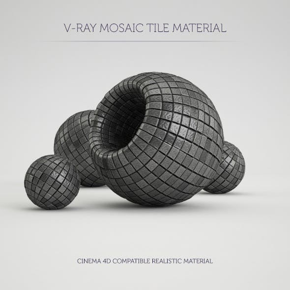 C4D V-Ray Mosaic Tile Material