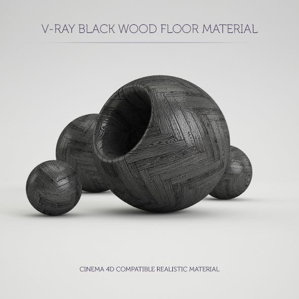 C4D V-Ray Black Wood Floor Material