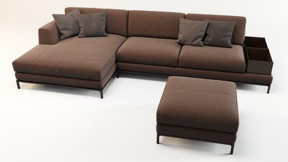 Sofa Ditre Italia - Artis leather - 3DOcean Item for Sale