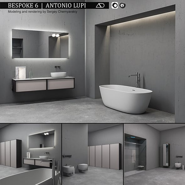 Bathroom furniture set Bespoke 6 - 3DOcean Item for Sale