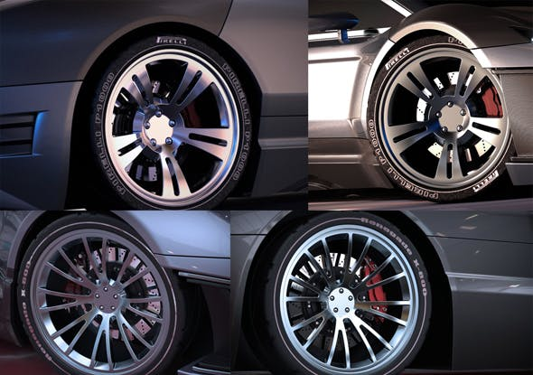 Desert R wheels - 3DOcean Item for Sale
