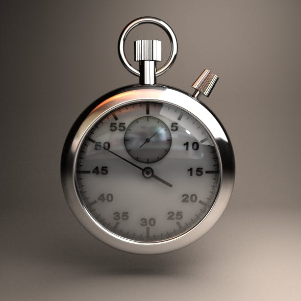 analog stopwatch - 3DOcean Item for Sale