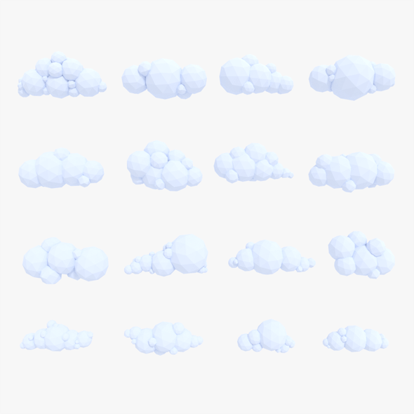 LowPoly Clouds Pack