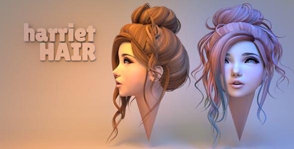Harriet Hair - 3DOcean Item for Sale