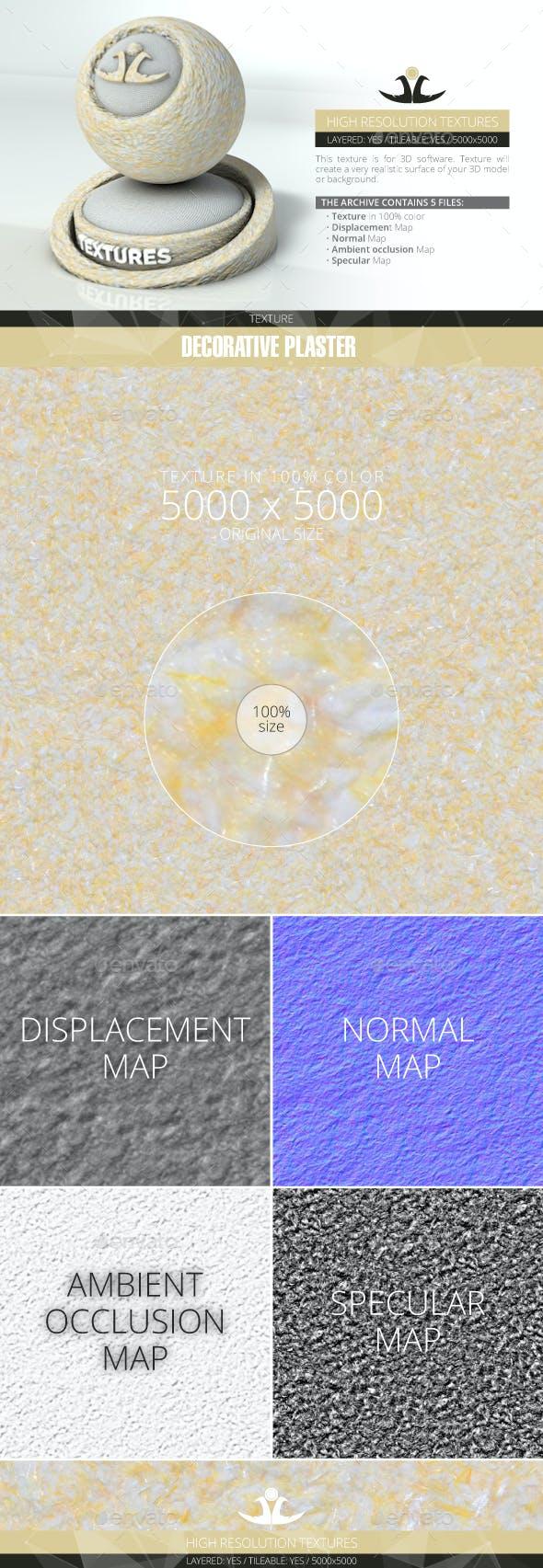Decorative plaster 2 - 3DOcean Item for Sale