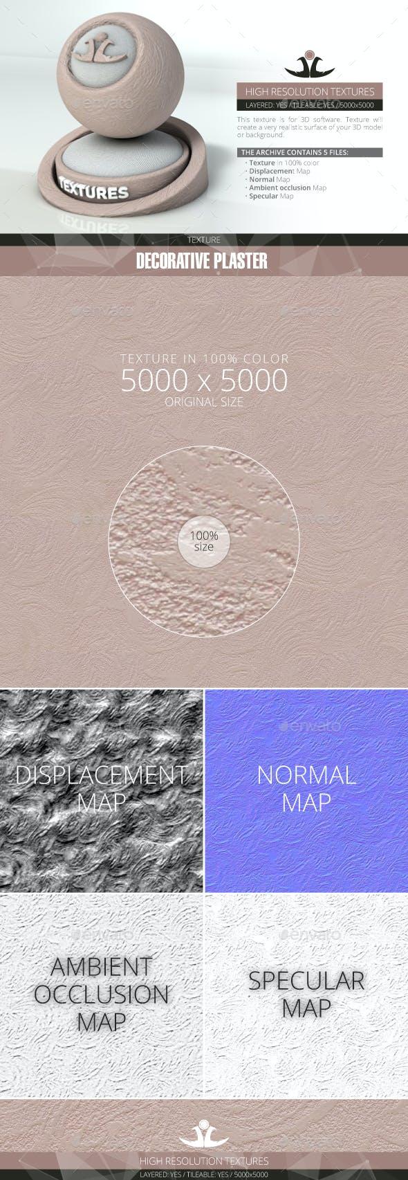 Decorative plaster 8 - 3DOcean Item for Sale