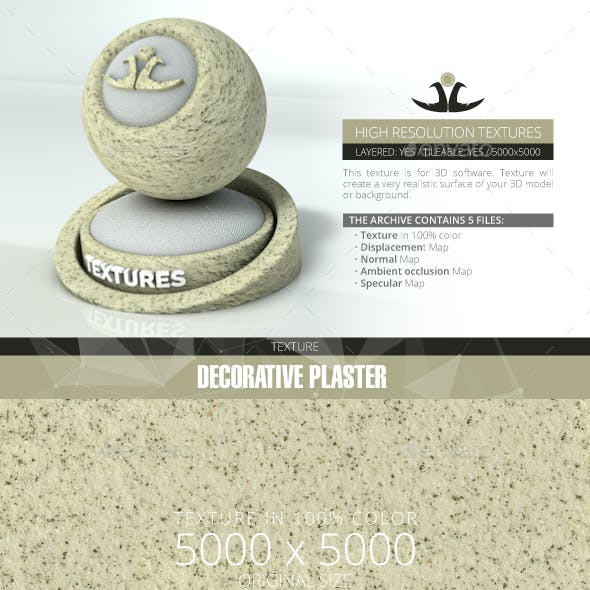 Decorative plaster 12
