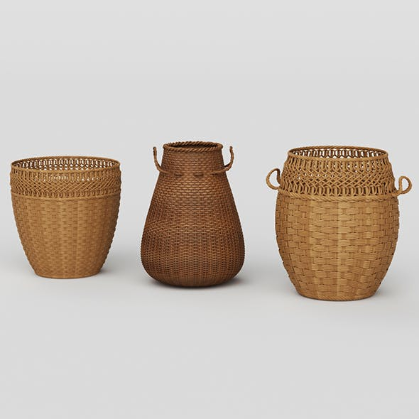 Vray Ready Basket Collection - 3DOcean Item for Sale