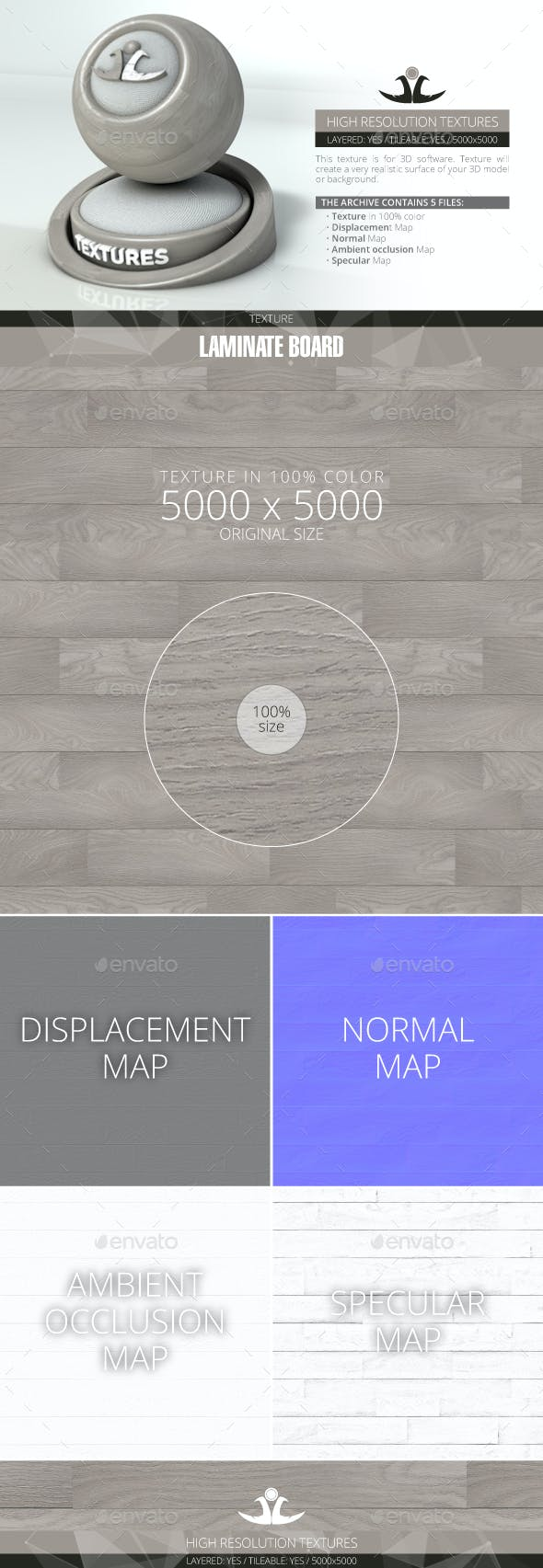 Laminate Board 7 - 3DOcean Item for Sale