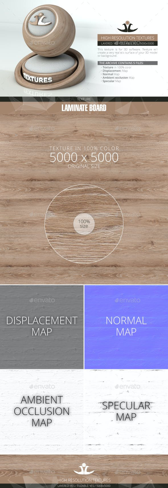 Laminate Board 9 - 3DOcean Item for Sale