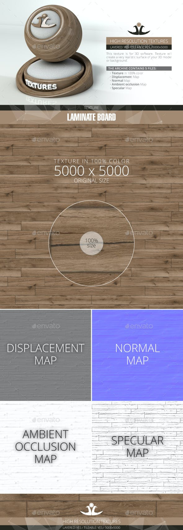 Laminate Board 11 - 3DOcean Item for Sale
